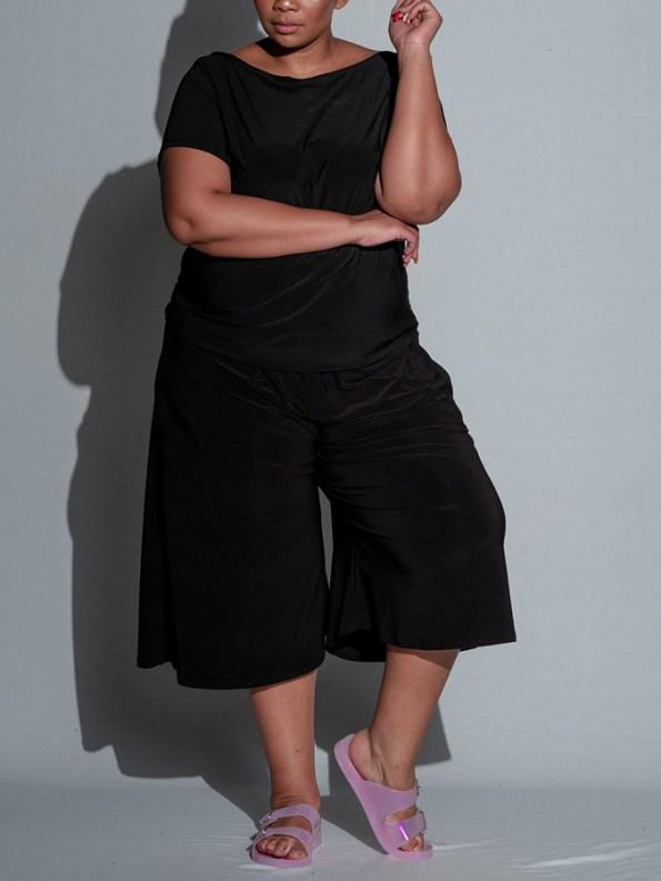 Isabel de Villiers Culotte Jumpsuit Black Front