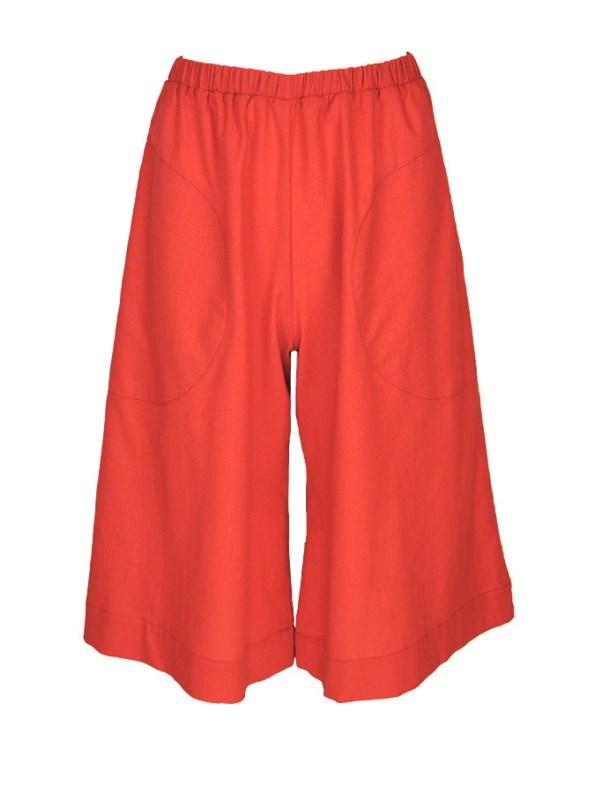 Isabel de Villiers Culottes Linen Deep Orange