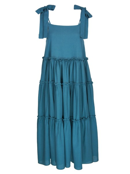 Teal tiered maxi dress Plus Size South Africa