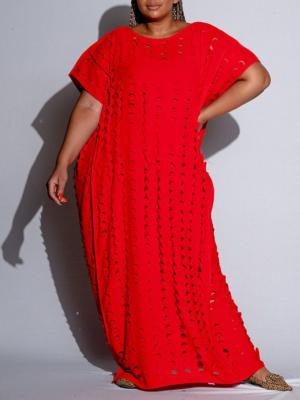 Isabel de Villiers Laser Cut Maxi Dress Front