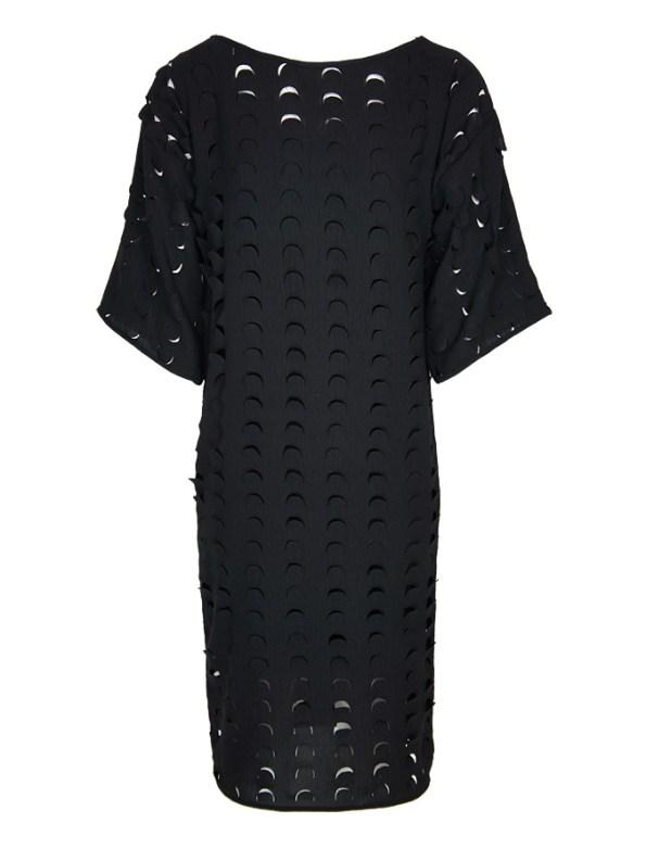 Isabel de Villiers Laser Cut Midi Dress Black
