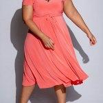Isabel de Villiers Midi Wrap Dress Coral