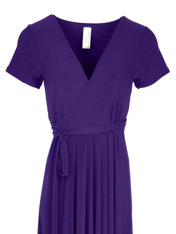 Isabel de Villiers Summer Midi Wrap Dress Purple 2