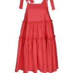 Coral tiered linen dress South Africa