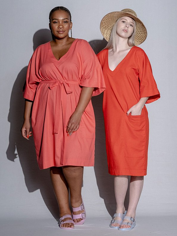 Isabel de Villiers Tunic Dress Coral Both
