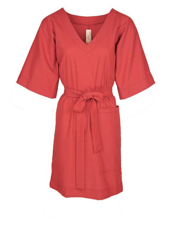 Isabel de Villiers Tunic Dress Coral