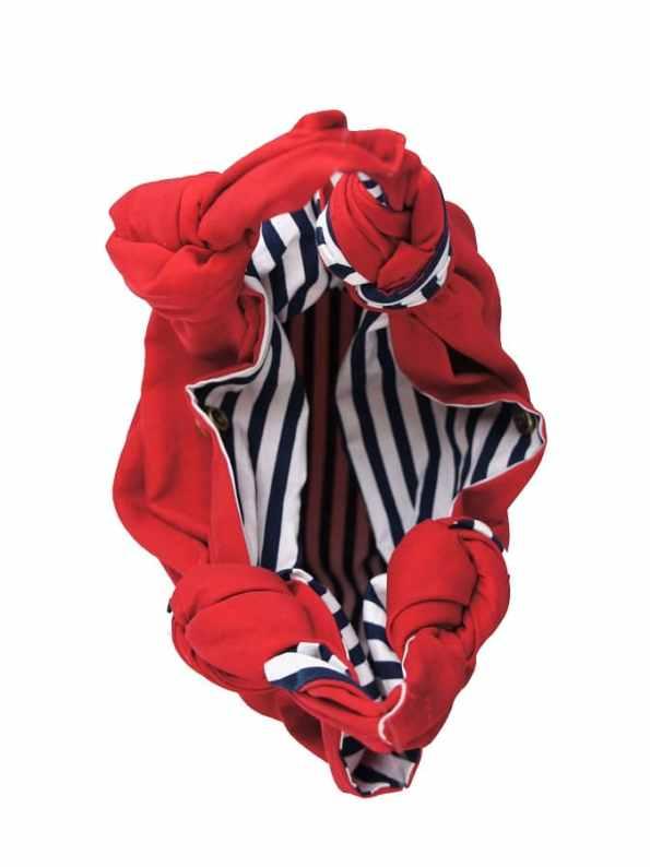 JMVB Furoshiki Small Bag Red Inside