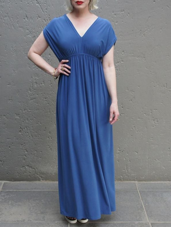 JMVB Rain Maxi Dress Peacock Blue Front