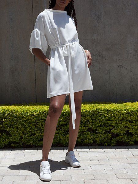 wide sleeve white dress South Africa