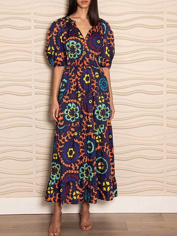 Smudj Chasing Aimee Cotton Maxi Dress Front