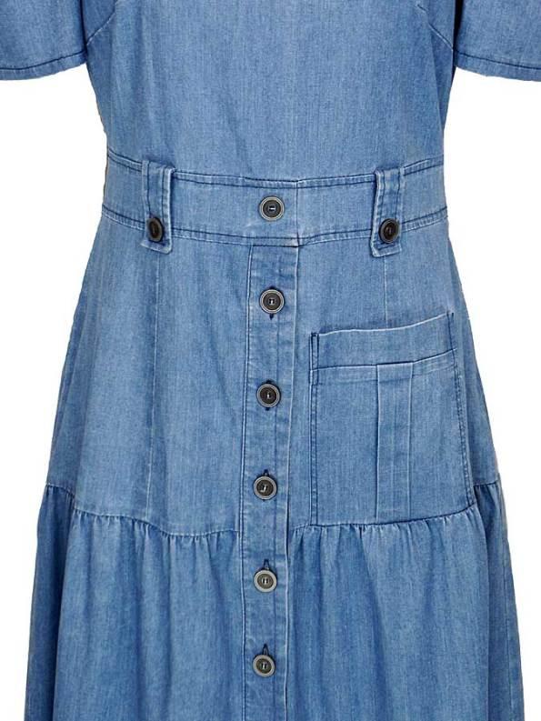 Smudj Denim Midi Dress Skirt
