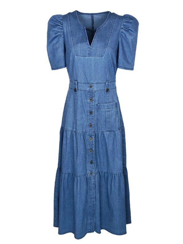 Smudj Denim Midi Dress