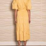 Smudj Puff Sleeve Dress Soft Yellow