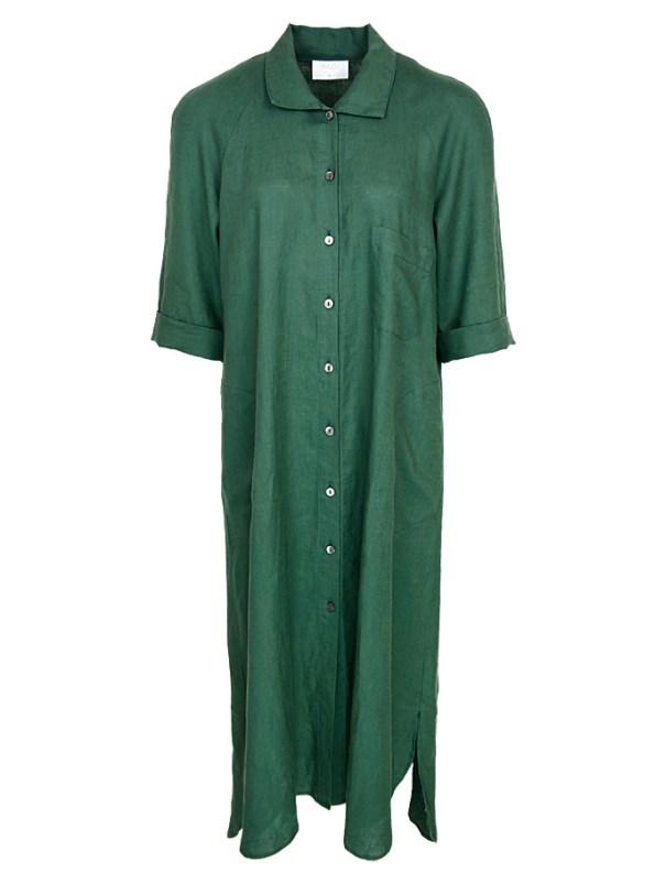 Smudj Seeking Silence Linen Dress Green