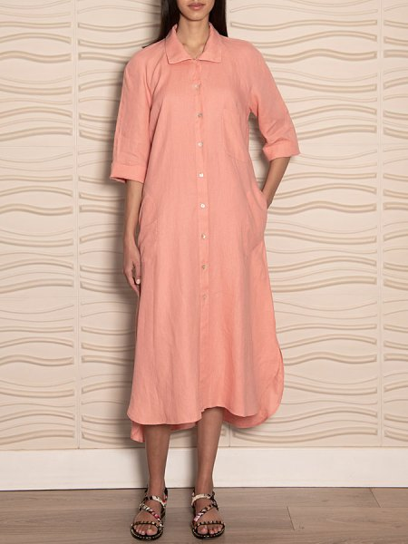 pink linen shirt dress South Africa