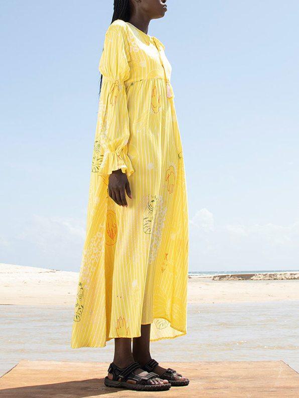Asha Eleven Dada Maxi Dress Everything is Everyone Side. jpg