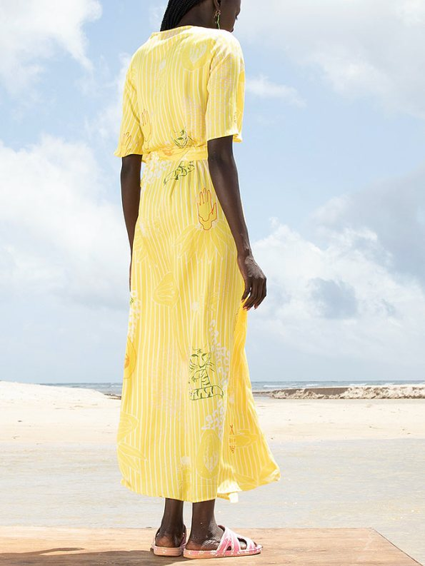 Asha Eleven Diani Wrap Dress Everything is Everyone Back
