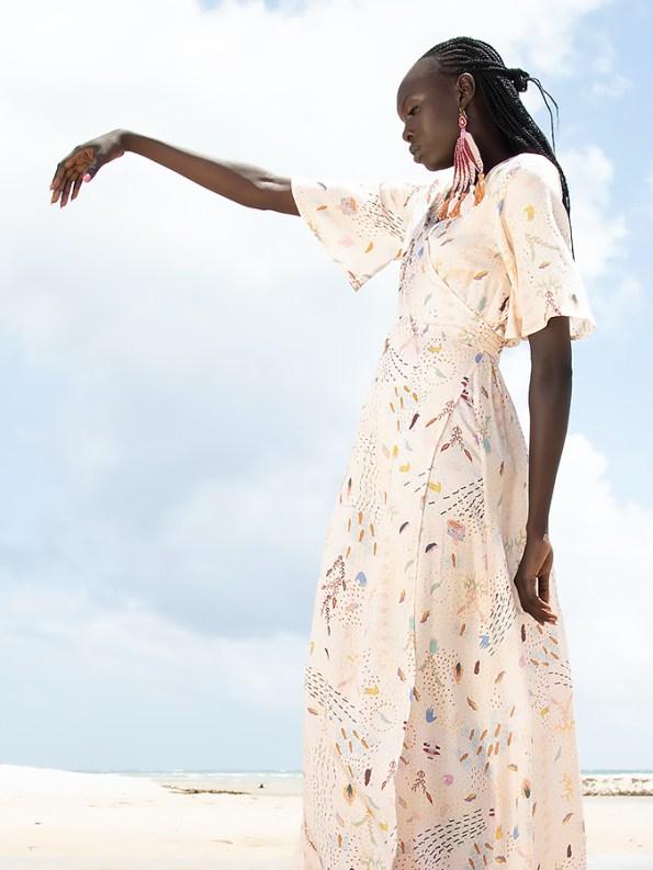 Asha Eleven Diani Wrap Dress Follow Your Signs Side Crop
