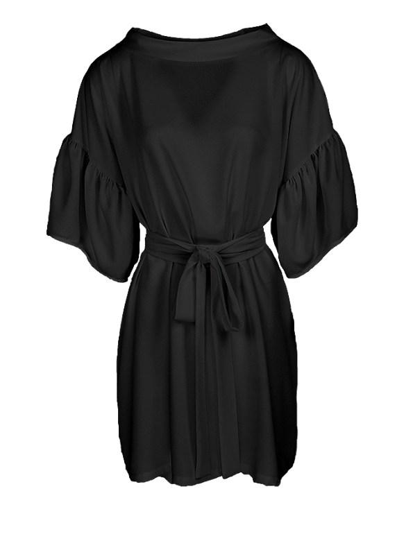 Erre Glide Easy-fit Dress Black