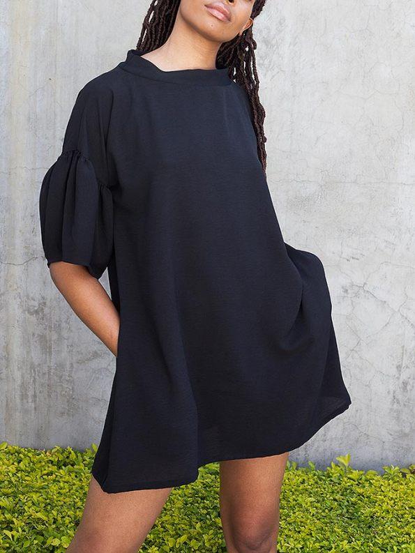 Erre Glide Easy-fit Dress Black Front