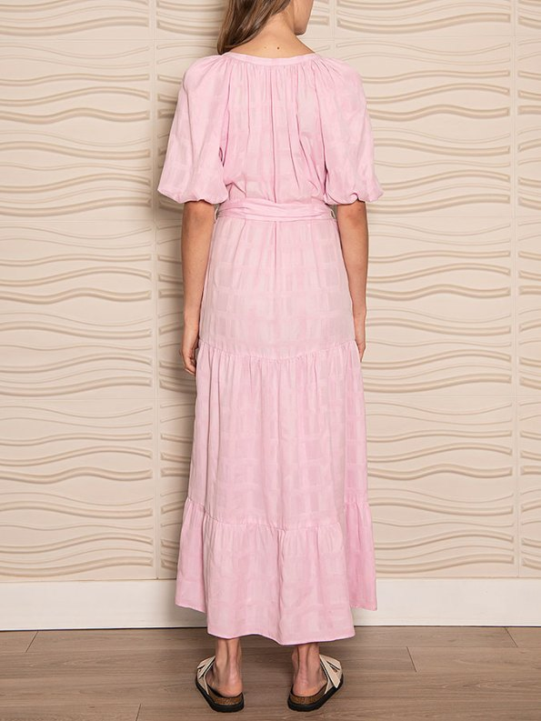 Smudj Chasing Aimee Swing Dress Pink Back