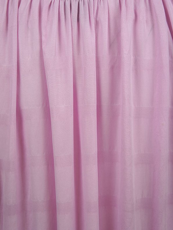 Smudj Chasing Aimee Swing Dress Pink Gathered Fabric