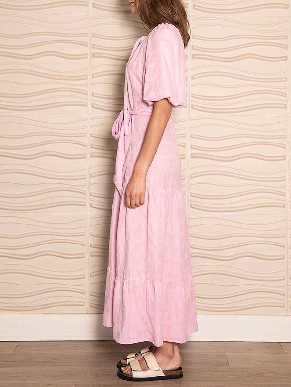 Smudj Chasing Aimee Swing Dress Pink Side