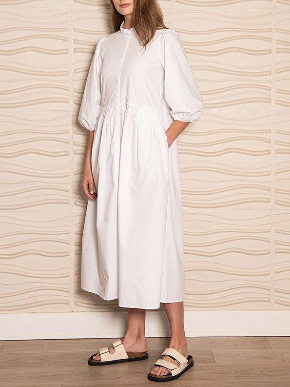 Smudj Eleventh Hour Dress White Angle
