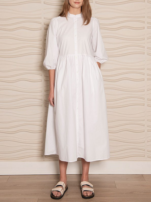 Smudj Eleventh Hour Dress White Front