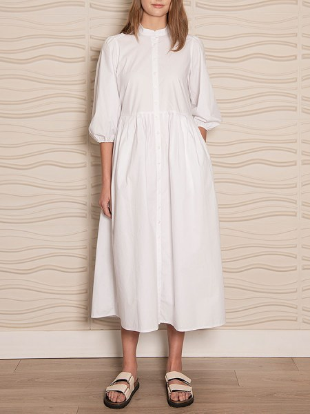 white cotton dress puff sleeve South Africa