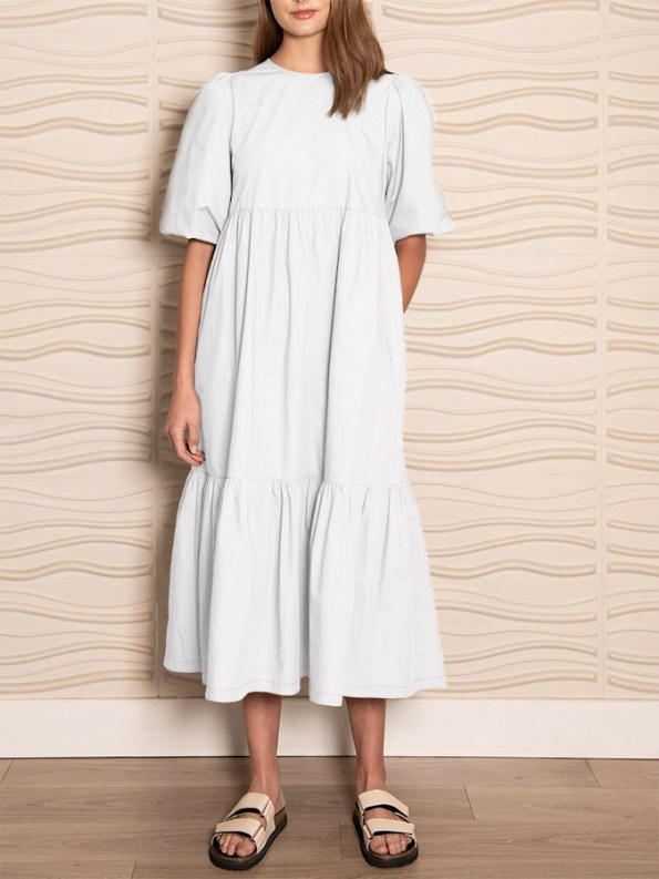 Smudj In 2 Minds Dress White Front