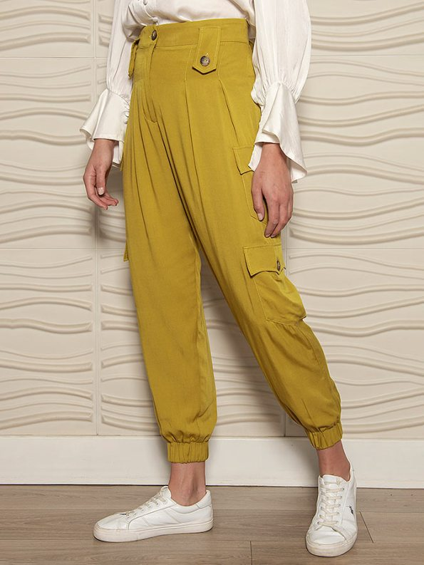 Smudj Resolute Utility Jogger Ocre Angle