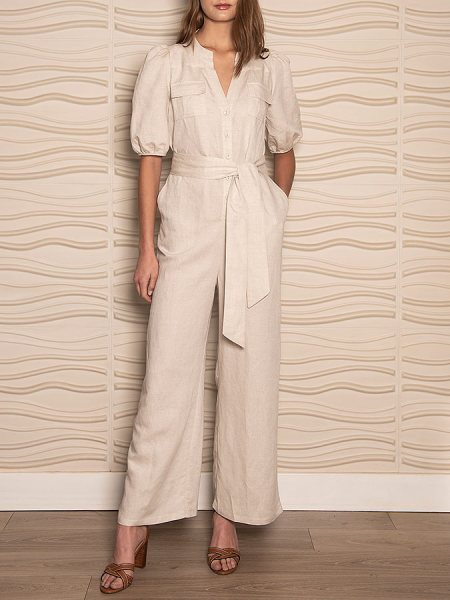 linen jumpsuit neutral South