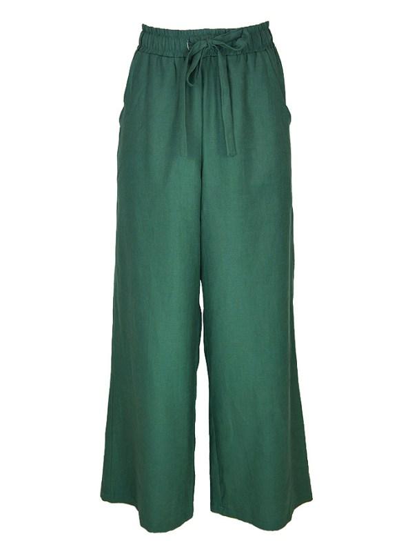Smudj Seeking Silence Linen Track Pants Green