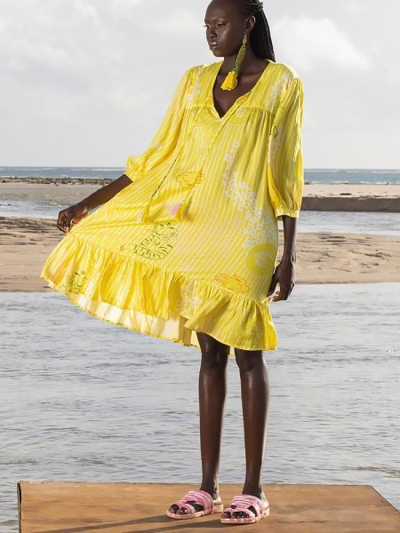 Loose dress yellow South Africa
