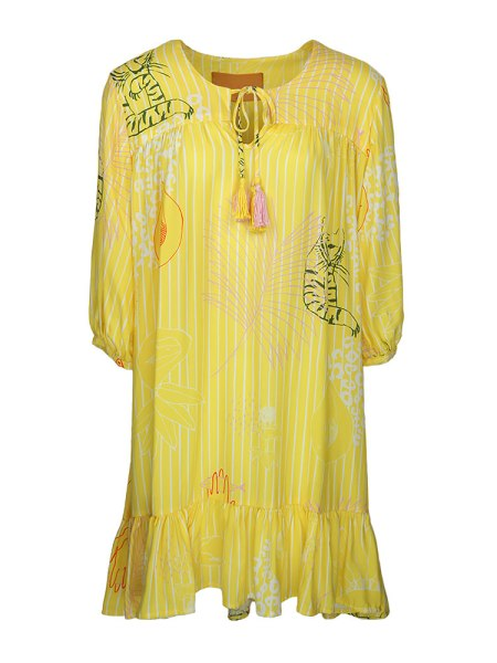 Loose yellow dress knee length South Africa