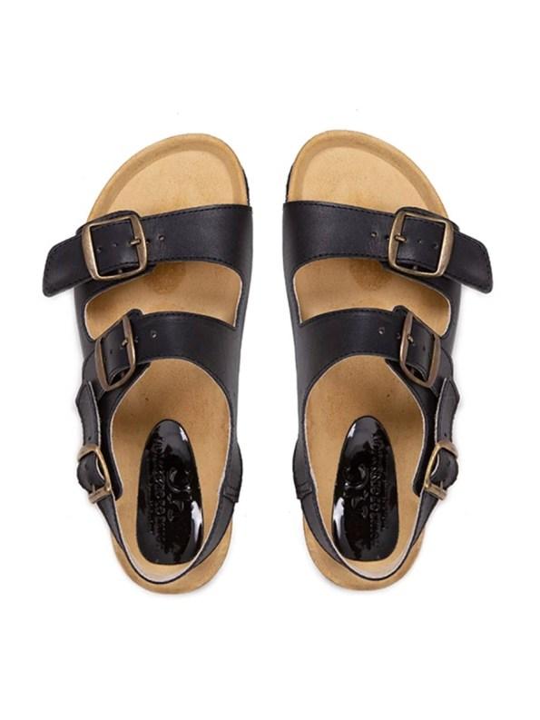 Glenda Slider Black Leather with Back Strap Pair