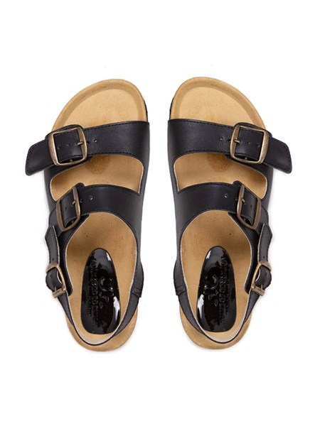 black leather slides with buckles for women South Africa