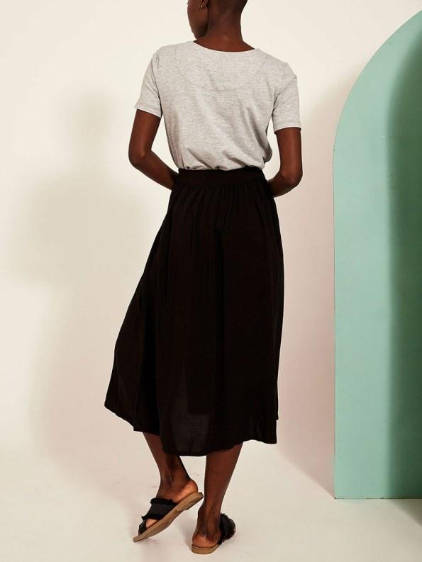 Good Button HW Skirt Black Back