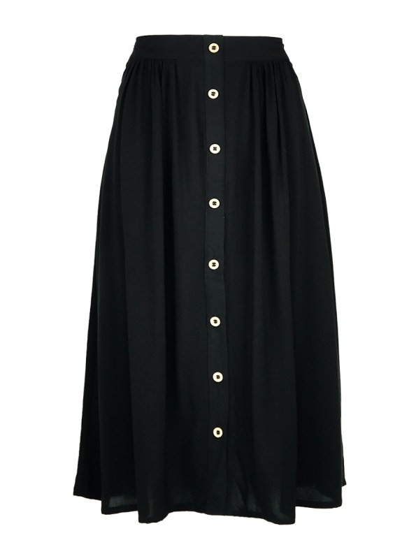 Good Button HW Skirt Black