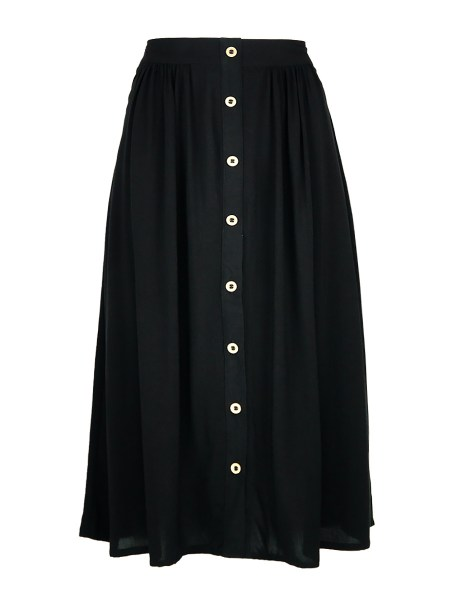 black high waisted skirt with buttons South Africa