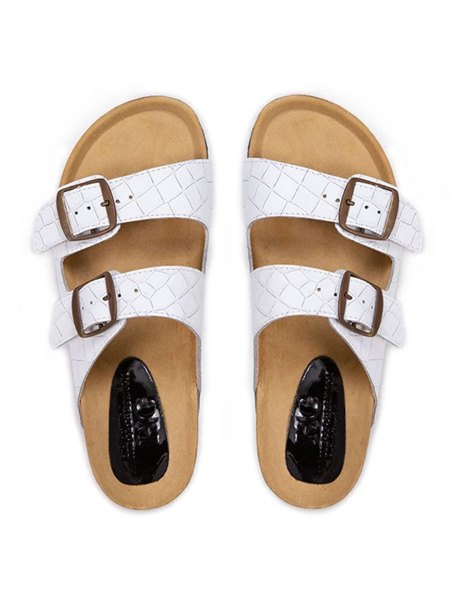 white leather Birkenstock style sandals South Africa