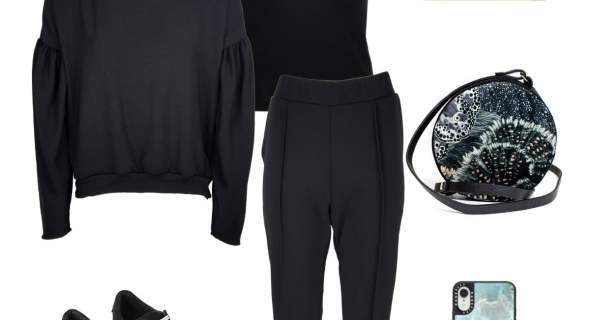How to wear all-black athleisure