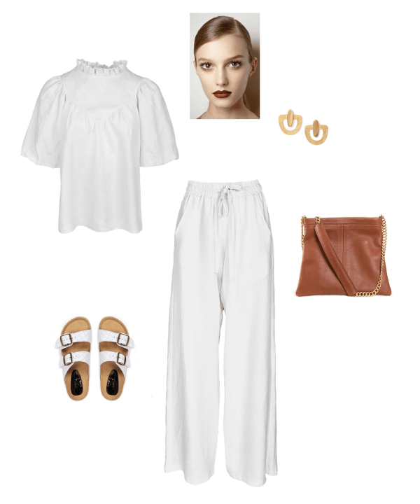 How to style white linen lounge pants