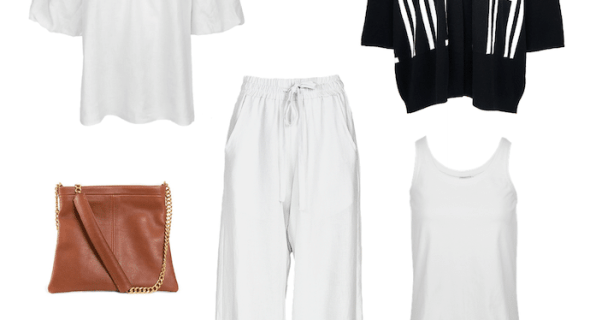 How to style your white linen lounge pants