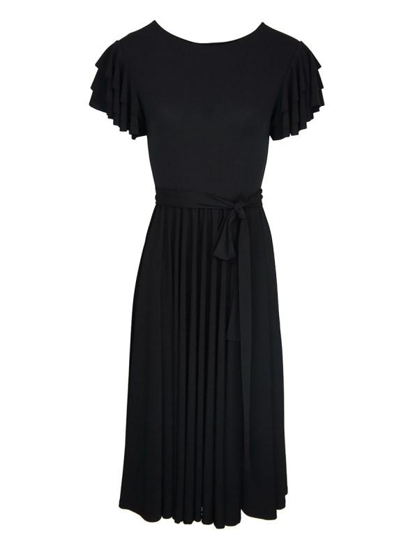 Erre Flutter Dress Black