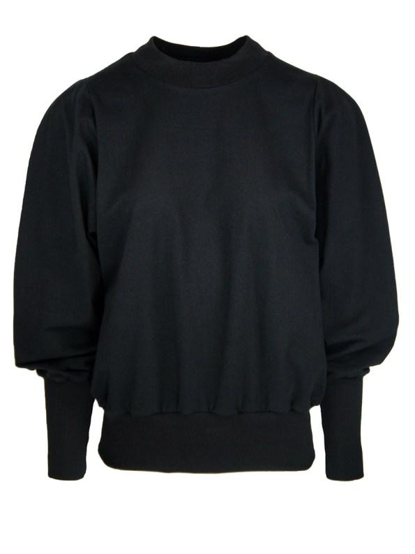 JMVB Athleisure Puff Sleeve Sweater Black_