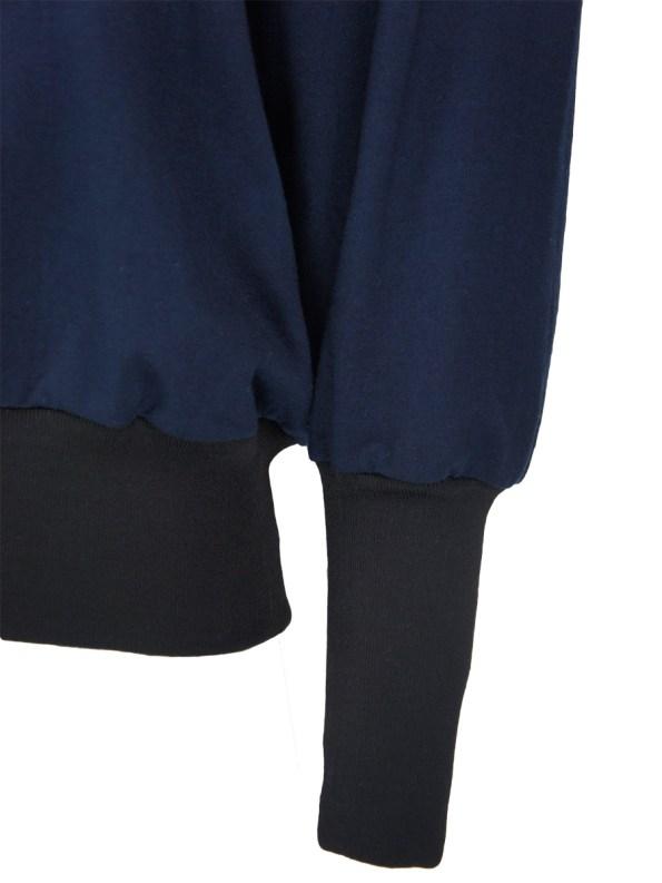 JMVB Athleisure Puff Sleeve Sweater Navy Sleeve