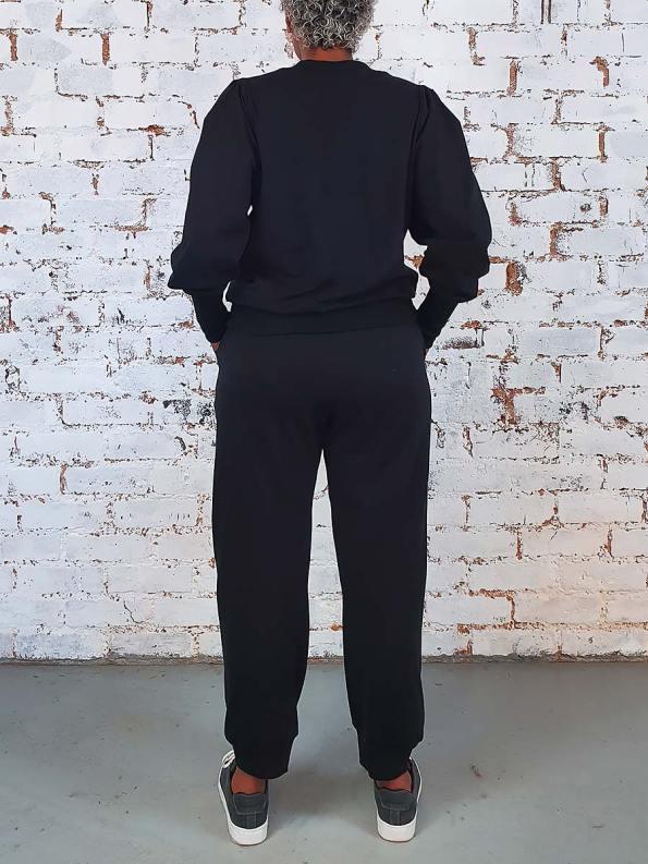 JMVB Athleisure Puff Sleeve Tracksuit Black Back