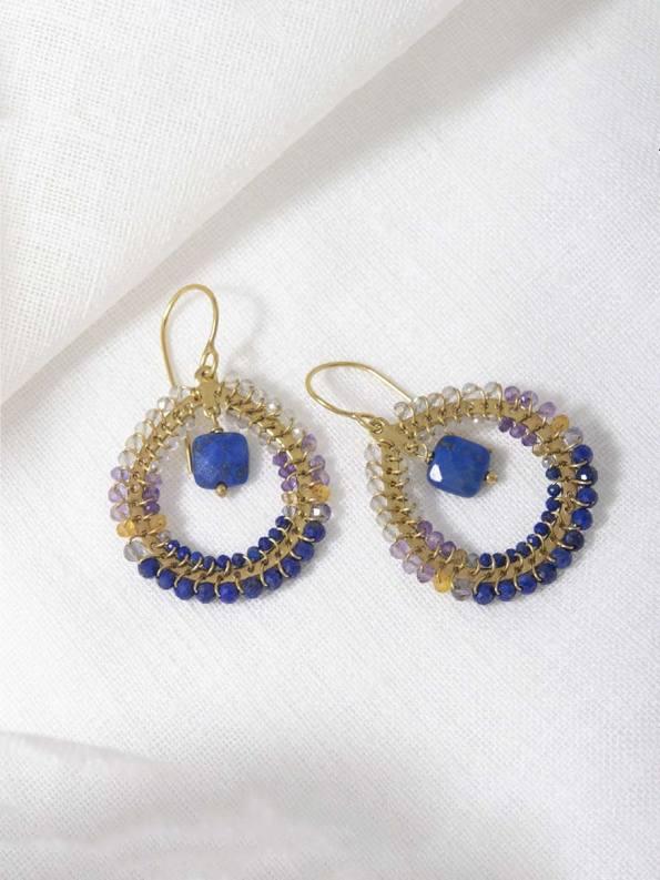 Kirsten Goss Fabrix Blue Gold